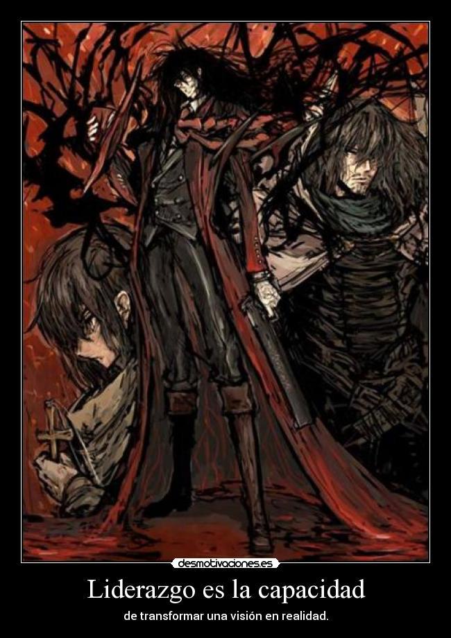 carteles anime otaku manga mukuroattacks devilbrigade alucard hellsing dracula desmotivaciones