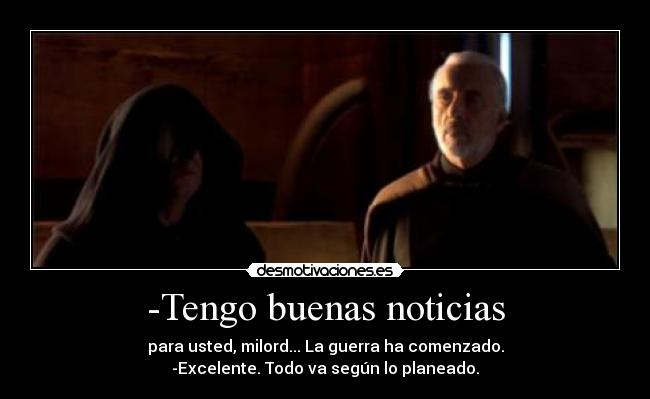 carteles star wars ataque los clones dooku darth tyrannus darth sidious desmotivaciones