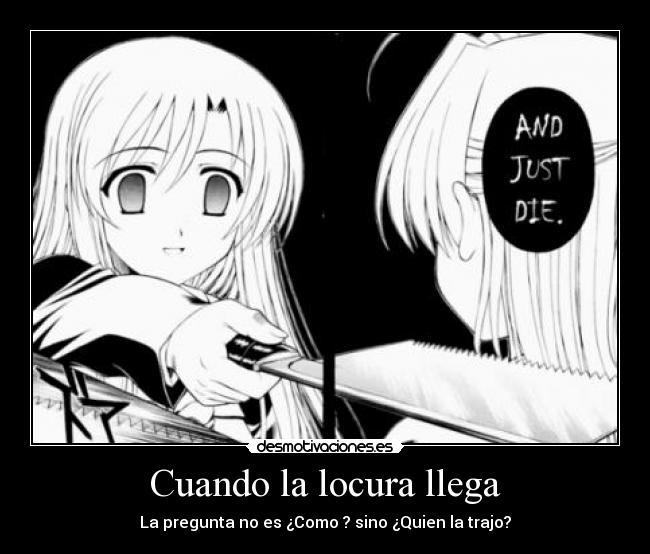 carteles locura school days anime desmotivaciones
