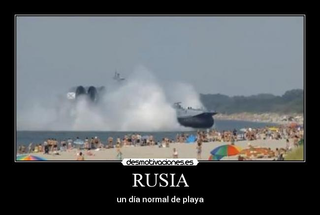 RUSIA - un día normal de playa