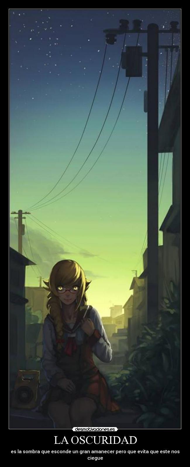 carteles oscuridad shinobu monogatari anime espero que entiendan que digo desmotivaciones