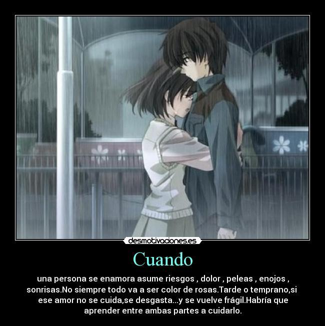 carteles amor tristeza parejas anime manga sentimientos querer ...