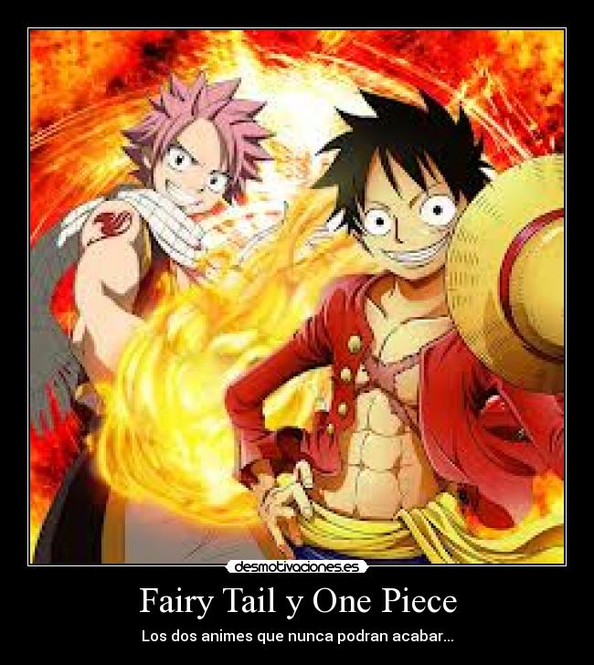 Fairy Tail y One Piece - Los dos animes que nunca podran acabar...