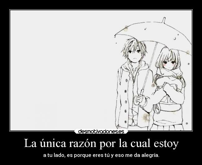 carteles anime manga shoujo razon lado you withyou sobaniiru love aishiteru desmotivaciones