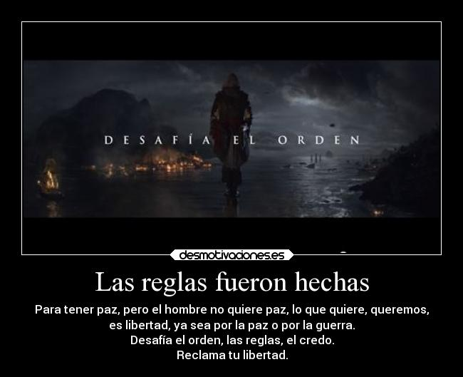 carteles assassins creed black flag edward kenway desafia orden desmotivaciones