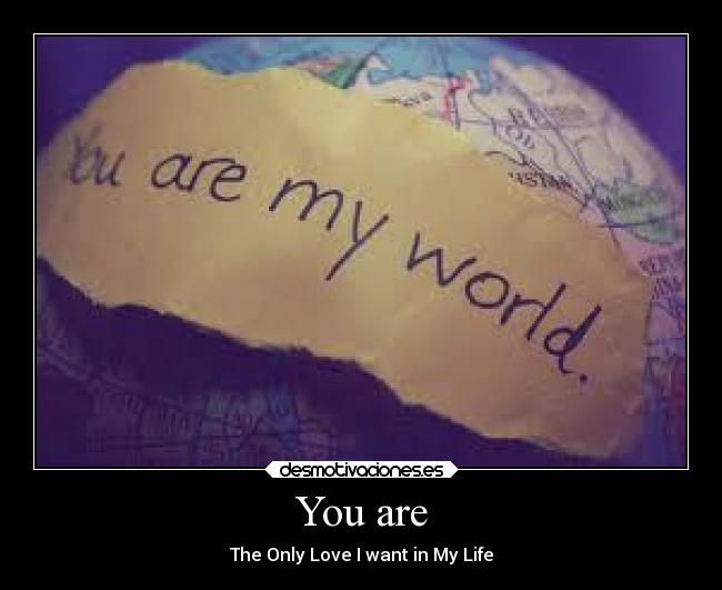 You are - The Only Love I want in My Life