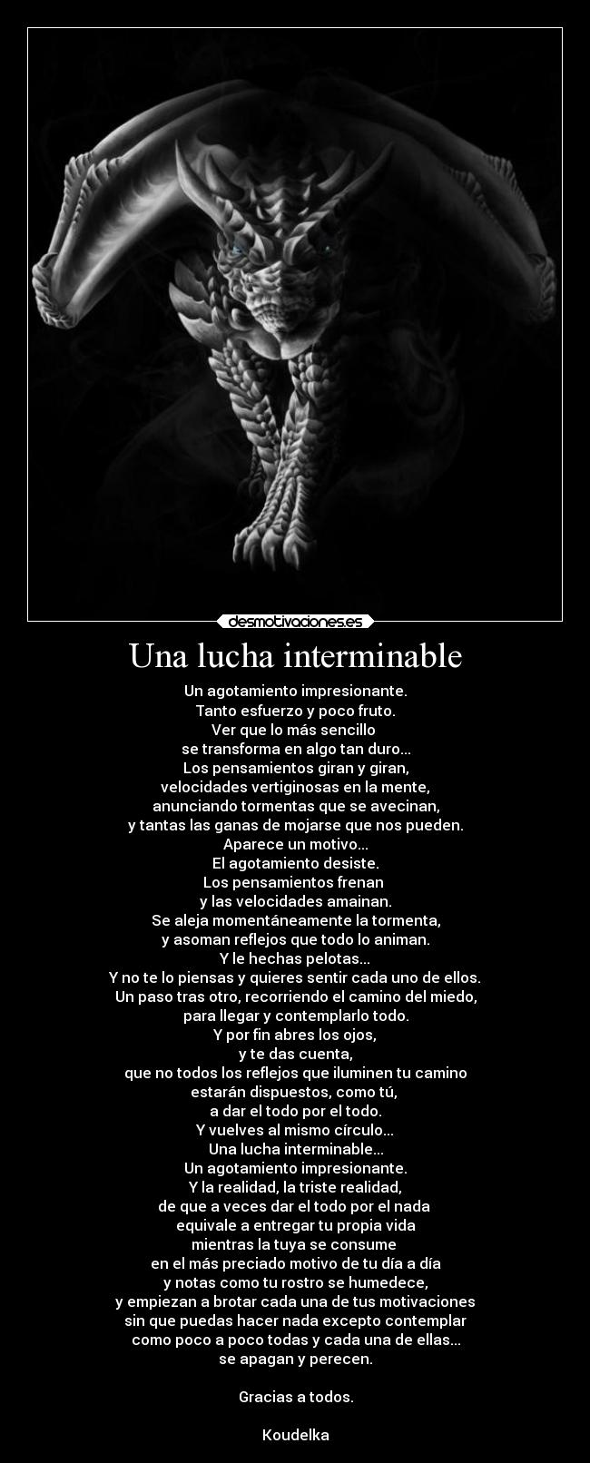 Una lucha interminable -