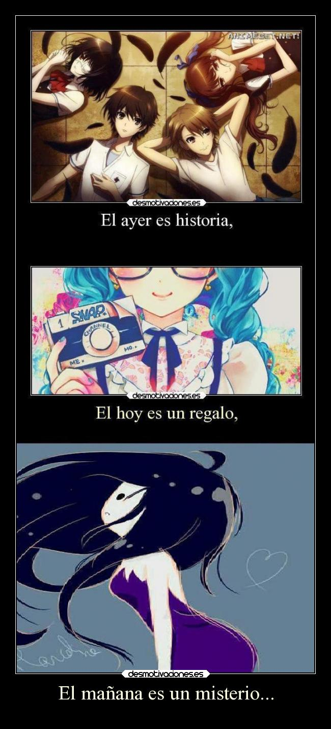carteles anime shinigamixlll hora aventura marceline miku another misaki mei tomorrowland supercartel desmotivaciones