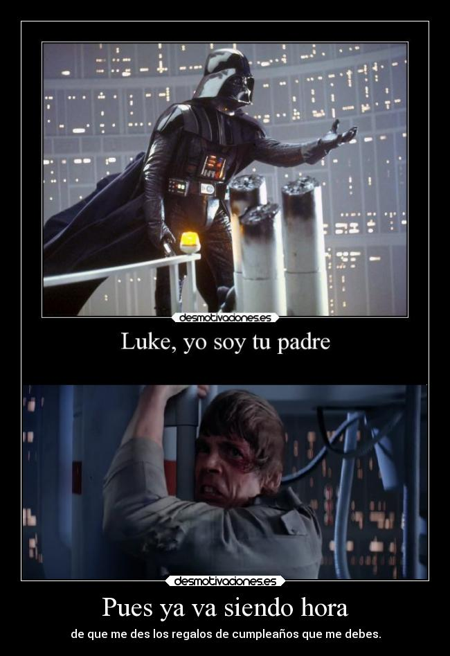 carteles darth vader luke skywalker clandominadores ejercitodemar desmotivaciones