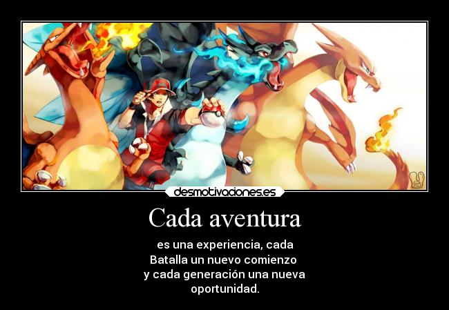 carteles anime pokemon charizard mega red aventura desmotivaciones