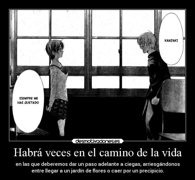 carteles vida raptorhunters harukaze anime manga otaku kimi iru machi kanzaki haruto amor love dlor camino desmotivaciones