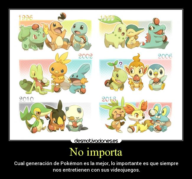 carteles pokemon anime otaku devilbrigade chespin froakie snivy torchic bulbasaur totodile tepig piplup desmotivaciones