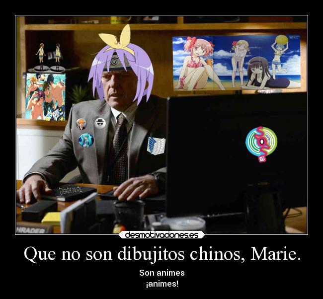 Que no son dibujitos chinos, Marie. - Son animes ¡animes!