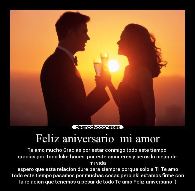 Feliz Aniversario Amor Desmotivaciones Feliz Aniversario mi Amor
