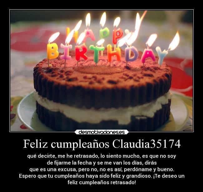 Feliz cumpleaños Claudia35174   Desmotivaciones