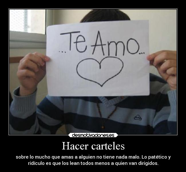 Hacer carteles -