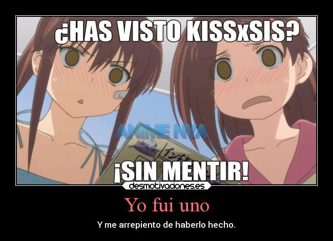 carteles anime kissxsis otaku devilbrigade pregunta ecchi pervertido arrepentir mentir ako riko desmotivaciones