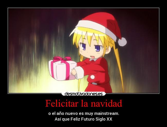 Felicitaciones De Navidad Anime.Felicitar La Navidad Desmotivaciones