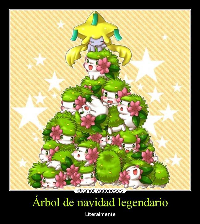 carteles navidad infancia navidad pokemon ail arbol feliz jirachi shaymin forma tierra