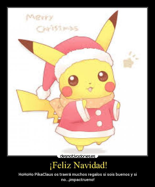 carteles navidad navidad pokemon pikachu kawai feliz