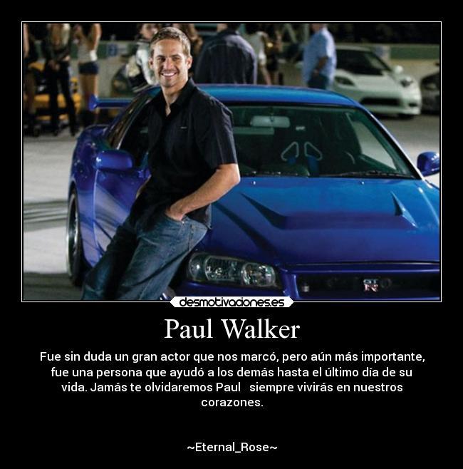 Paul Walker Desmotivaciones