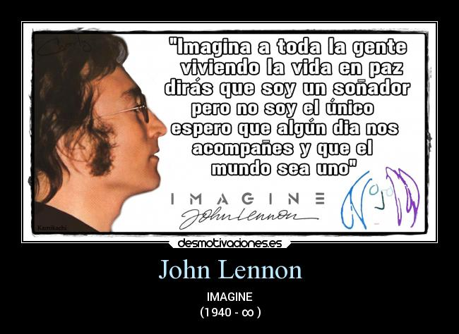 John Lennon - IMAGINE (1940 - ∞ )