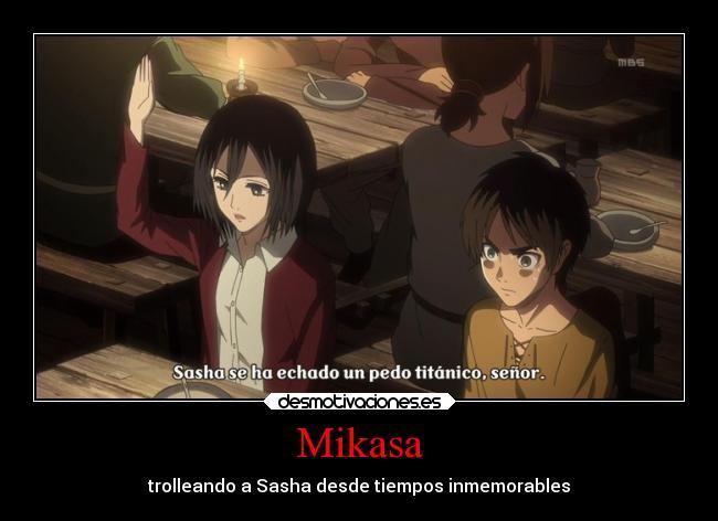Shingeki no kyojin mikasa ackerman memes for Mikasa es su casa