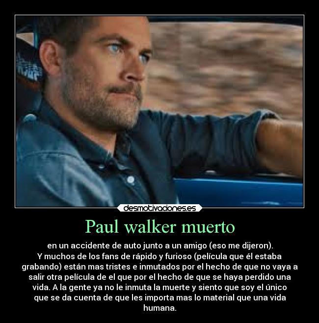 Paul Walker Muerto Desmotivaciones