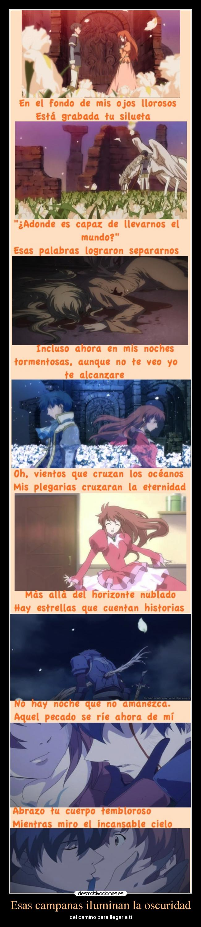 carteles anime romeo juliet cancion opening inori you raise desmotivaciones