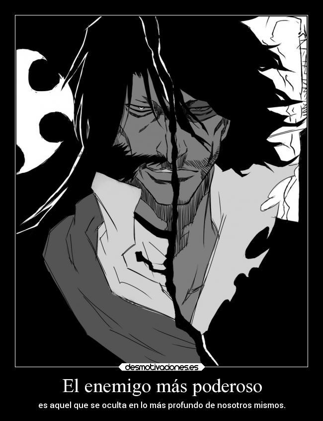 carteles enemigo enemigo anime raptorhunters harukaze manga otaku bleach zangetsu quinzy rival maldad ichigo kurosaki desmotivaciones
