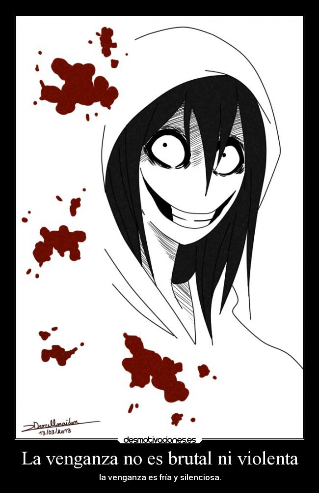 Creepypasta jeff the killer anime carteles locura anime otaku