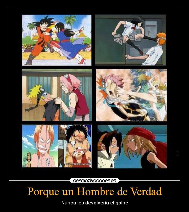 carteles naruto anime crossover dragon ball goku milk sakura one piece luffy nami bleach ichigo riuka shaman desmotivaciones