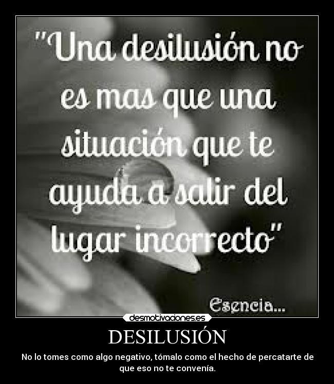 Desilusión Desmotivaciones