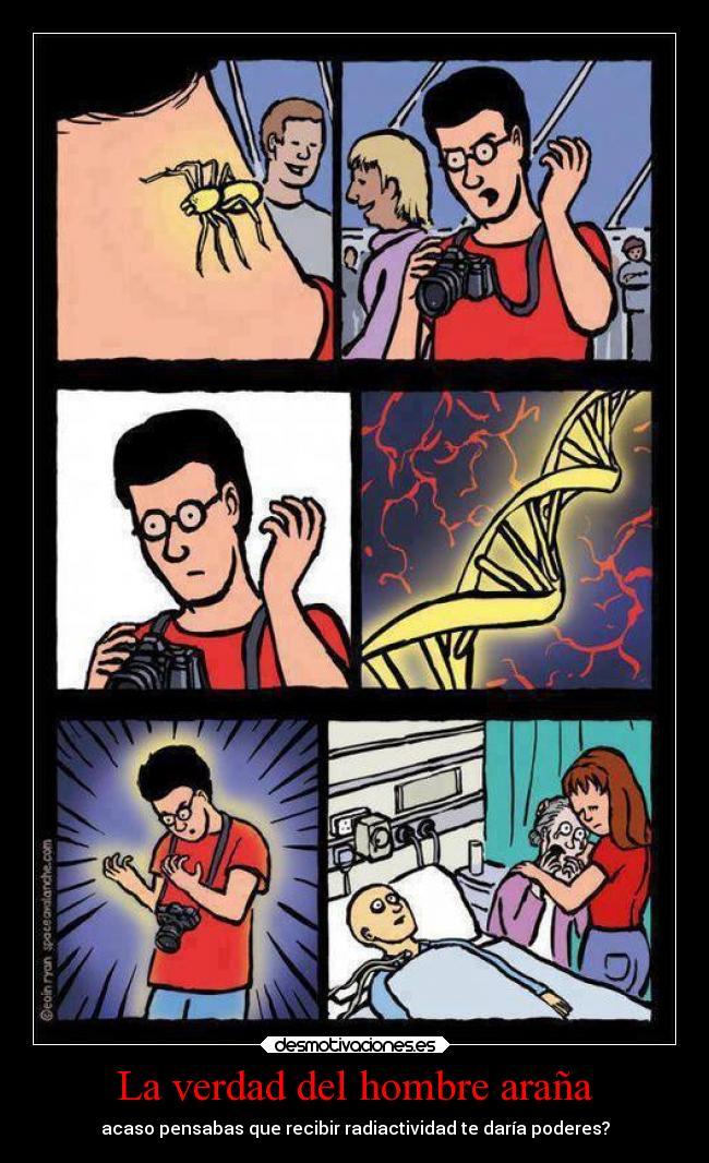 La verdad del hombre araña | Desmotivaciones