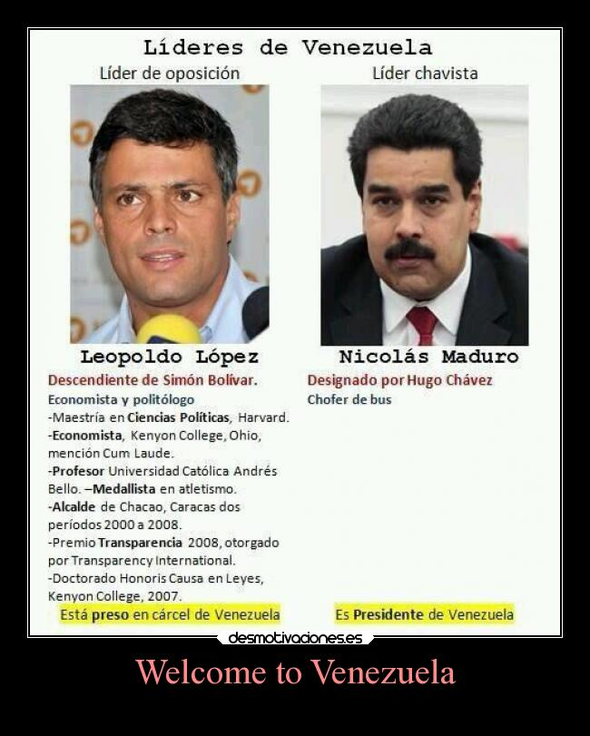 Welcome to Venezuela -