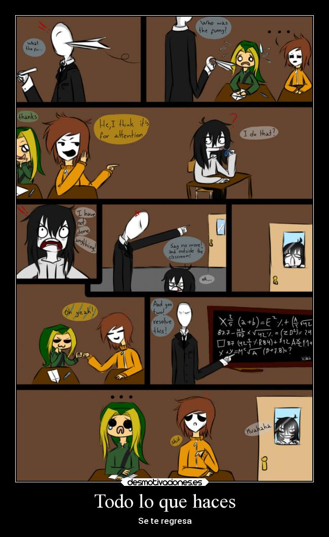 carteles frases creepypastas jeff the killer masky ben slenderman metaforas desmotivaciones