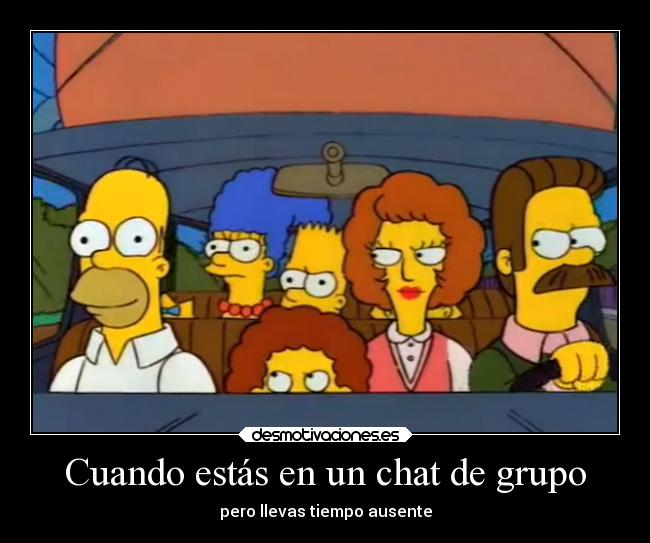 vida simpsons humor tipico whatsapp chat grupal grupo desmotivaciones