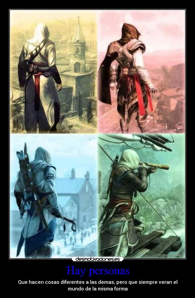 carteles videojuegos assassins creed altair ezio connor edward kenway xd1122lool desmotivaciones