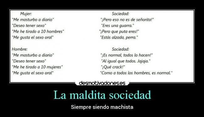 carteles sociedad sociedad machismo desmotivaciones