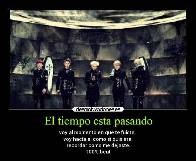 carteles musica kpop one hundred percent beat desmotivaciones