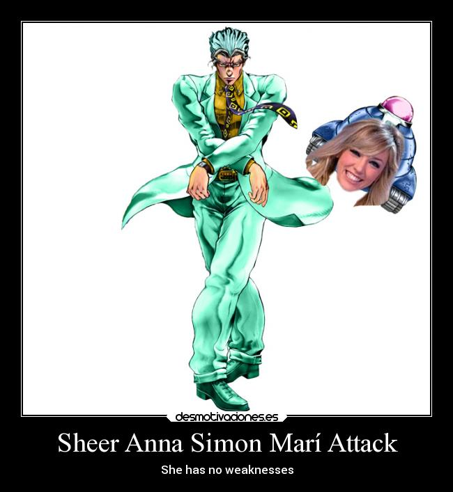 Sheer Anna Simon Marí Attack - She has no weaknesses