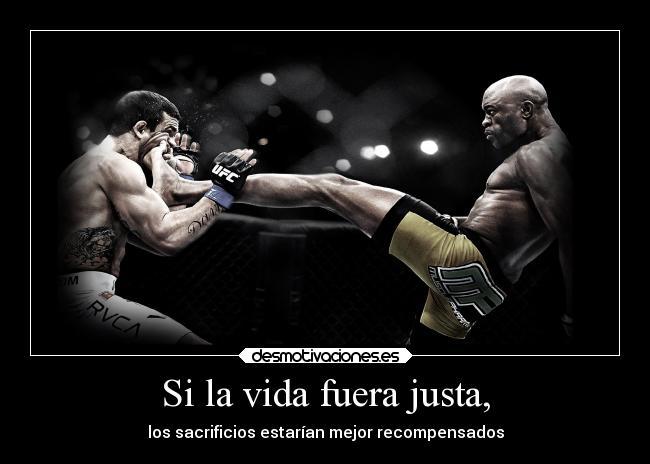 carteles vida vida sacrificios boxeo deporte desmotivaciones