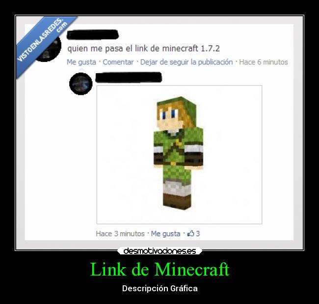 Link De Minecraft Desmotivaciones - Skins para minecraft zelda