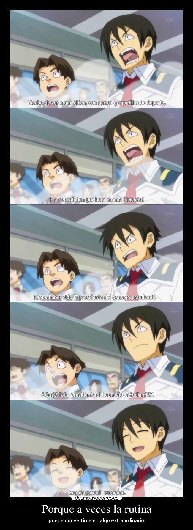 carteles anime humor medakabox elbuskador1 rutina extraordinario desmotivaciones
