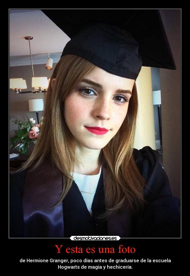carteles escuela graduarse hogwarts hermione foto emma watson ...