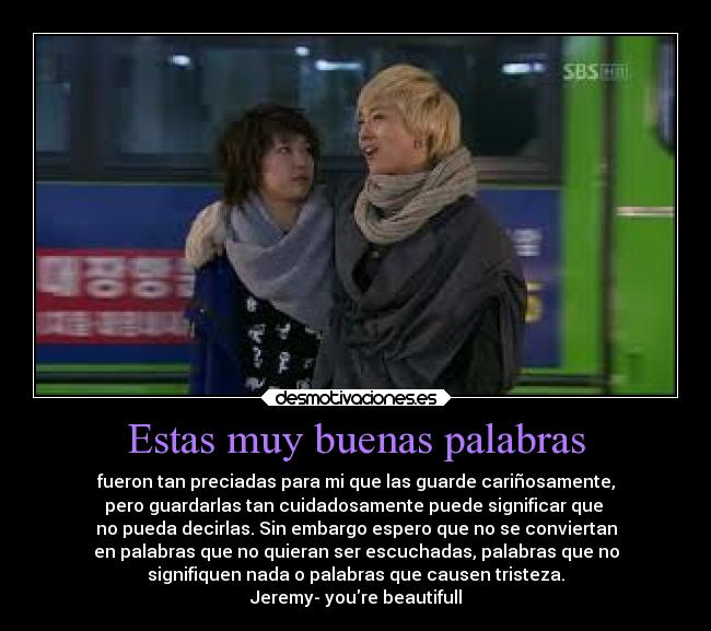 carteles frases amor palabras kpop jeremy you are beautifull desmotivaciones