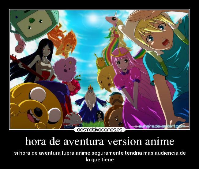 Hora de aventura version anime desmotivaciones hora de aventura version anime altavistaventures Gallery