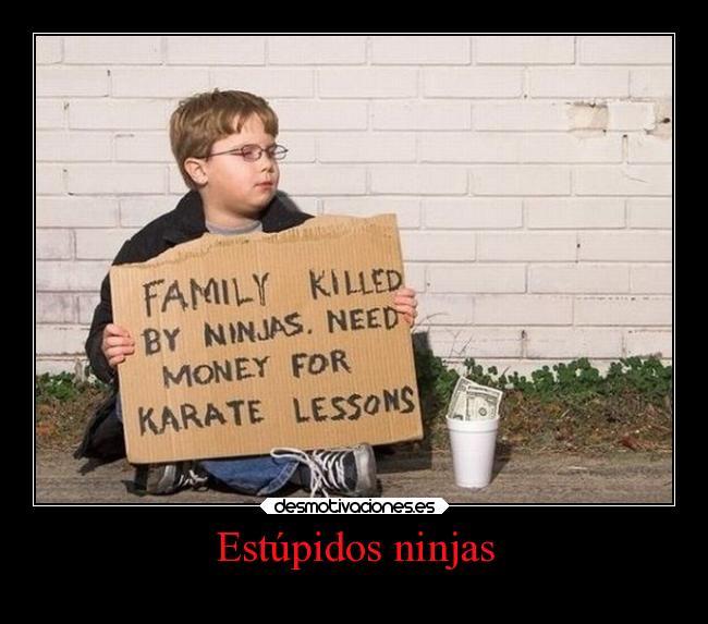 carteles humor chiste lesiones por ninjas karatekas desmotivaciones