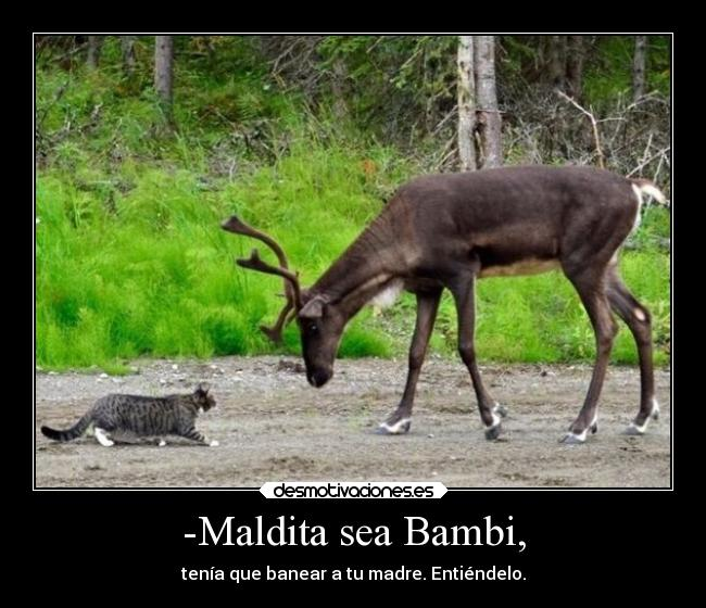 -Maldita sea Bambi, -