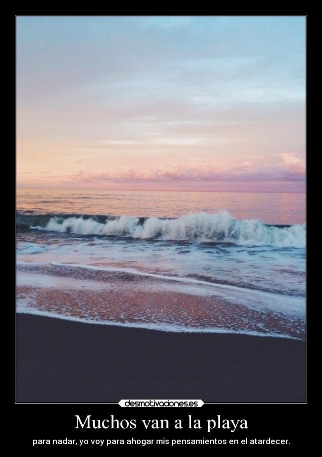 Muchos Van A La Playa Desmotivaciones